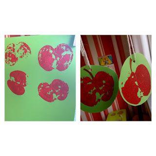 Apfel Stempeln Herbst Kleinkinder U3 Spielideen Bastelideen