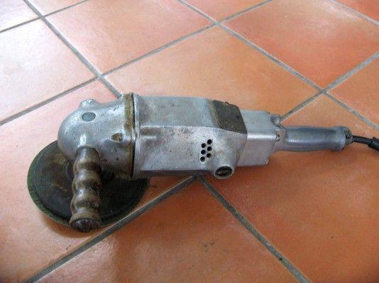 vintage angle grinder, flamingsteel.com