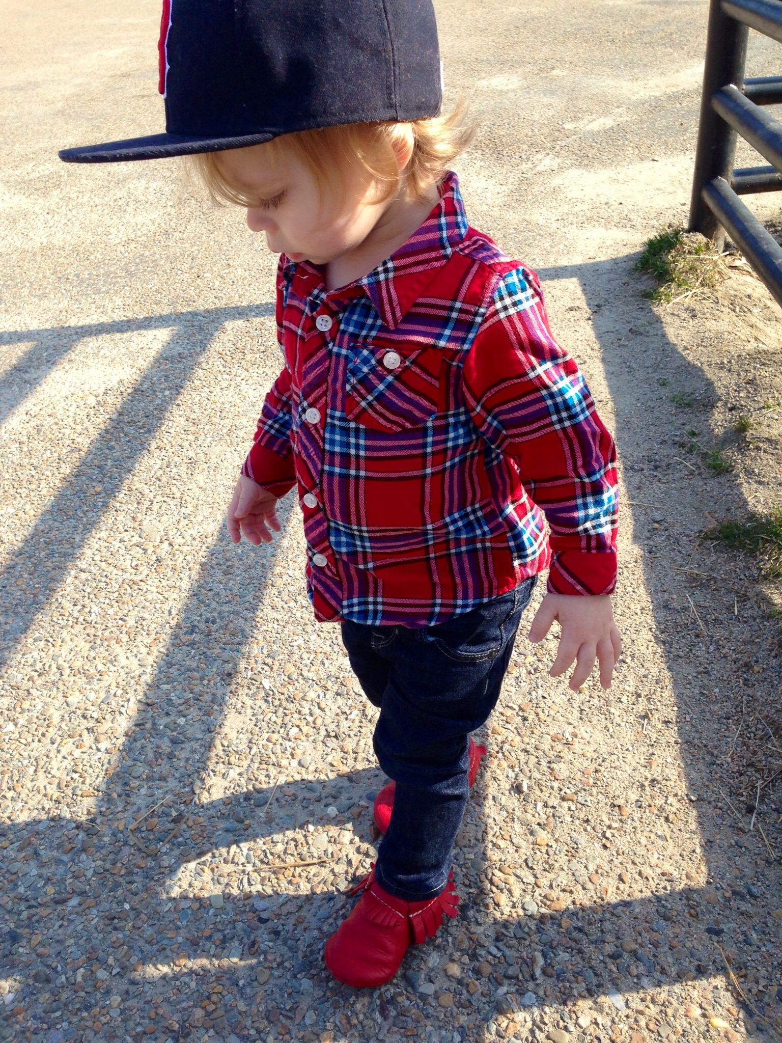 159749e0215 Freshly Picked moccasins and a fitted hat - toddler boy fashion