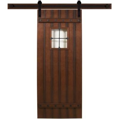Steves U0026 Sons 36 In. X 90 In. Tuscan III Stained Hardwood Interior Barn