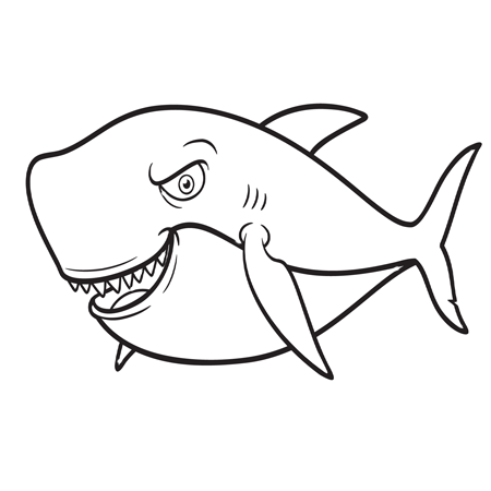 Dessin Requin Bleu A Colorier Clip Art Fish Coloriage