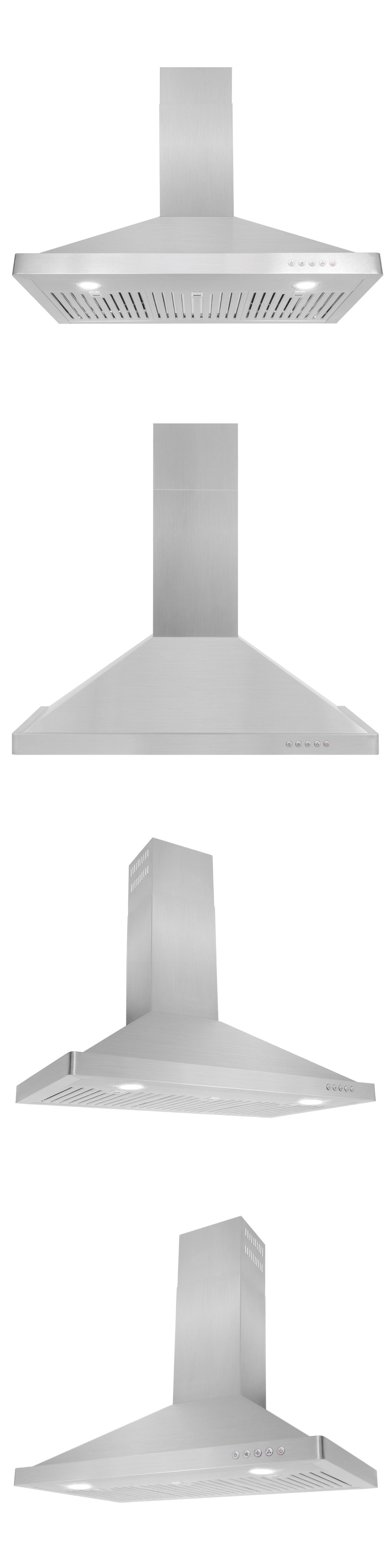 Details About 36 Ducted Wall Mount Range Hood 760 Cfm Permanent Stainless Steel Filters Leds Wall Mount Range Hood Range Hood Range Hood Fan