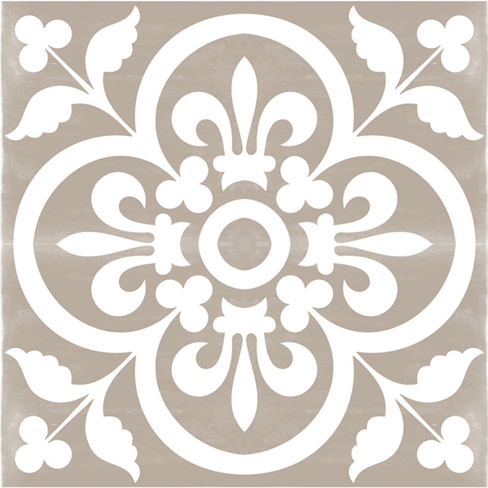 Sticker Sol Carreau Vinyle Corona Gris Avec Images Carreaux