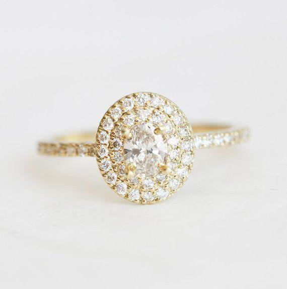 Halo Diamond Engagement Ring Halo Engagement Ring Oval Engagement