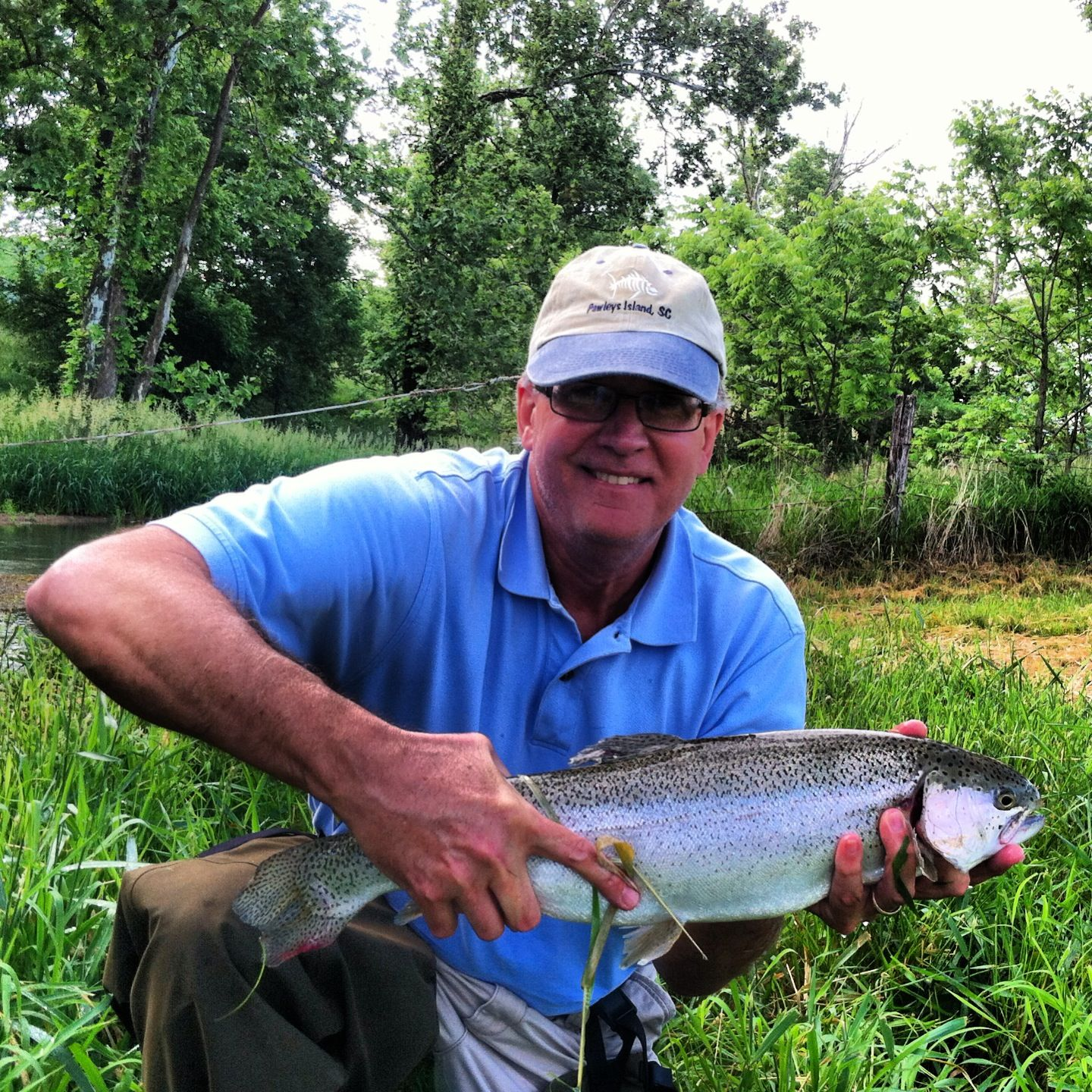 22 Rainbow Trout On A Hopper In Mossy Creek Rainbow Trout Fly Fishing Trout