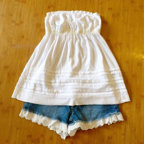 White A&F Tube Top Worn but in great condition! Abercrombie & Fitch Tops Tank Tops