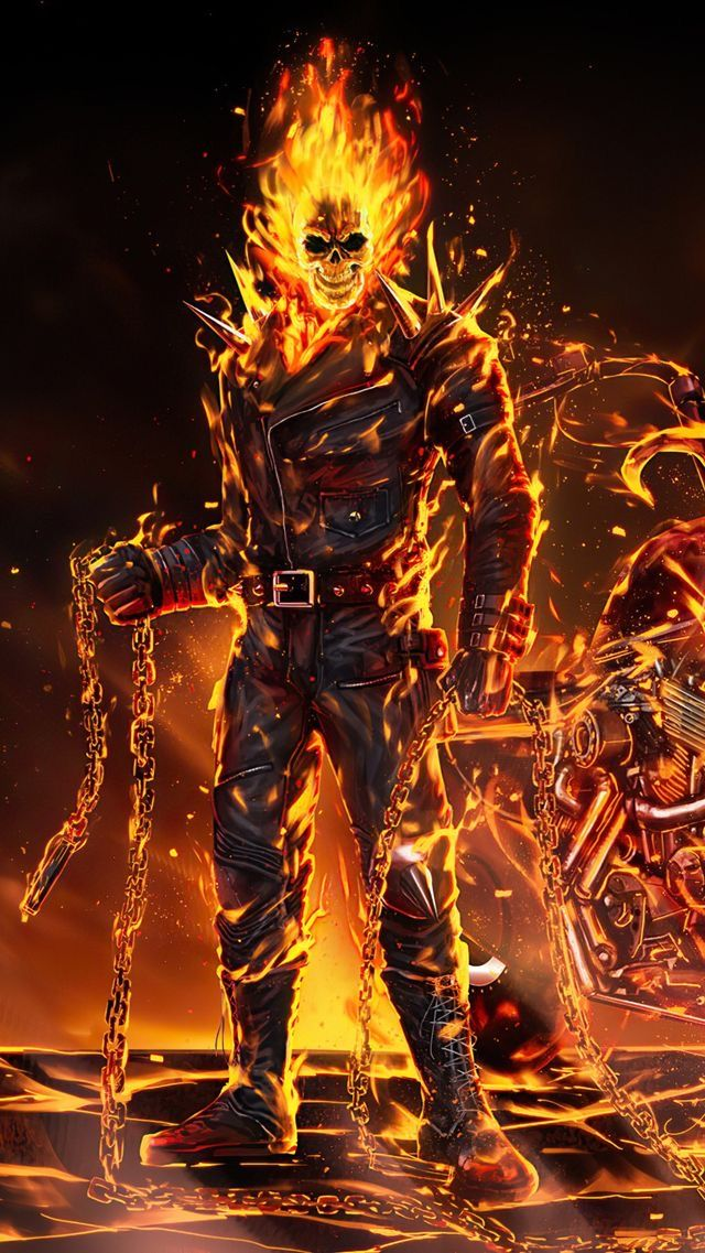Pin By Iqfath Siam On Ghost Rider Ghost Rider Wallpaper Ghost Rider Movie Ghost Rider Images