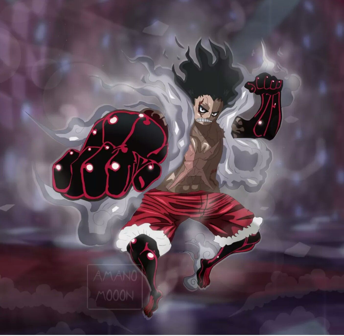 Snake Man Luffy Gear 4 One Piece Anime Monkey D Luffy