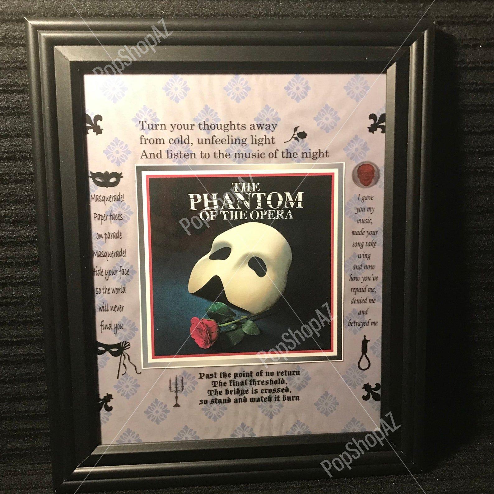 Phantom Of The Opera Wall Art Framed Art Music Of The Night Art