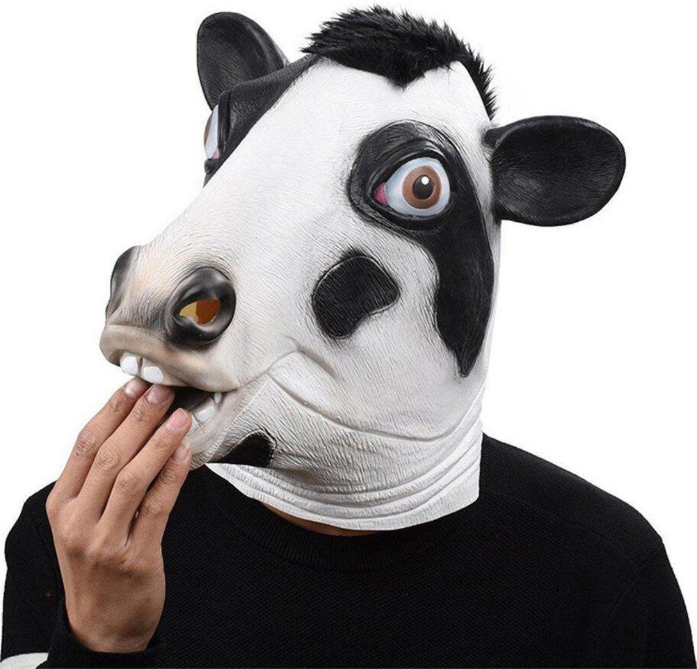 Halloween Costume Animal Head Human Latex Mask Chicken Monkey Cosplay Fancy Mask
