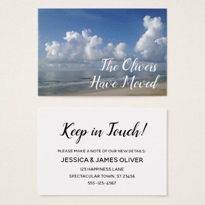 Change of Address to Beach Home Photo Card - script gifts template - change of address templates