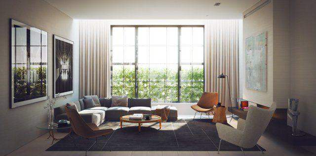 Décoration salon  25 idées en photo pour su0027inspirer Salon salon - decoration de salon moderne