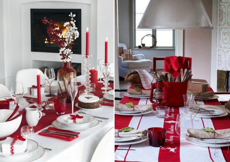 Déco Table Noël Rouge Et Blanc 50 Idées Qui Unifient Le Moderne Et