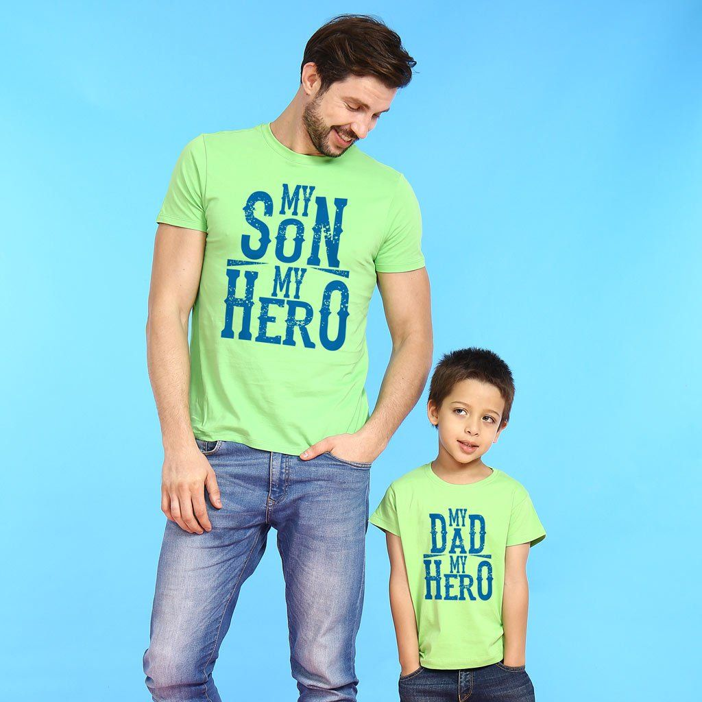 Bright Green My Son Dad My Hero Father-Son Tees !  familytees  daddy ... c715284bcd25