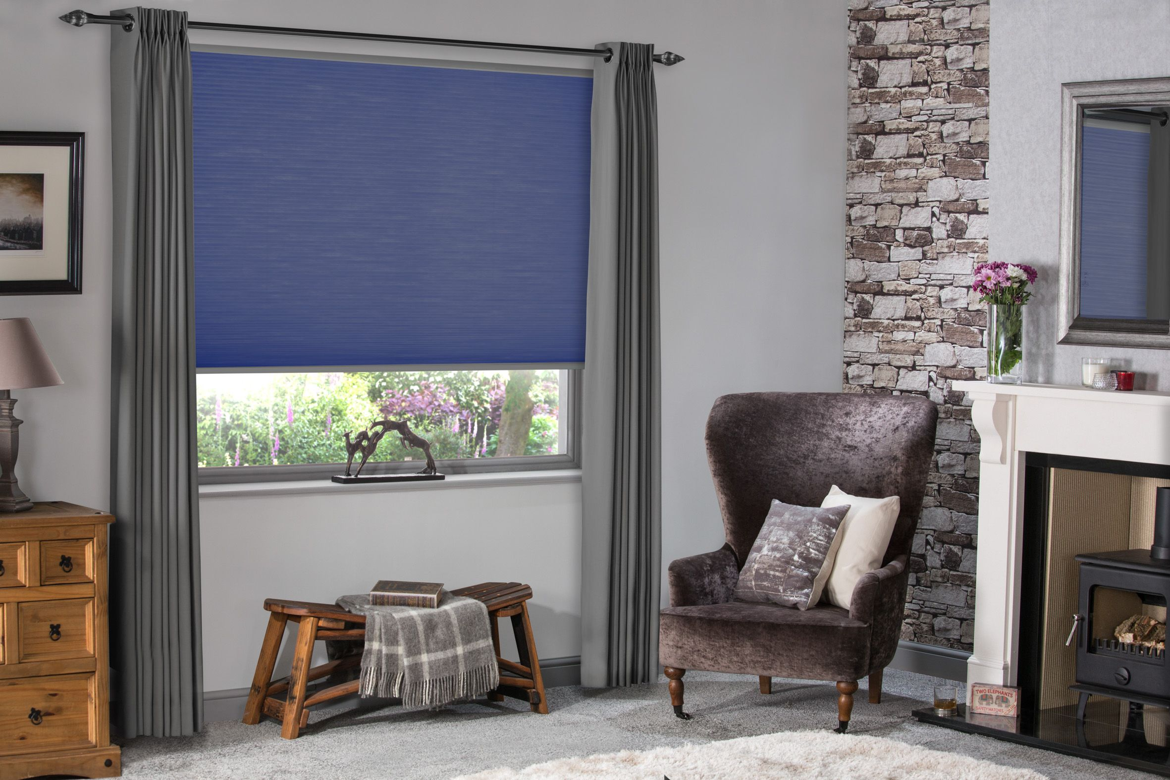 Living Room Blind Ideas Blue Blinds Energy Saving Pleated Hive