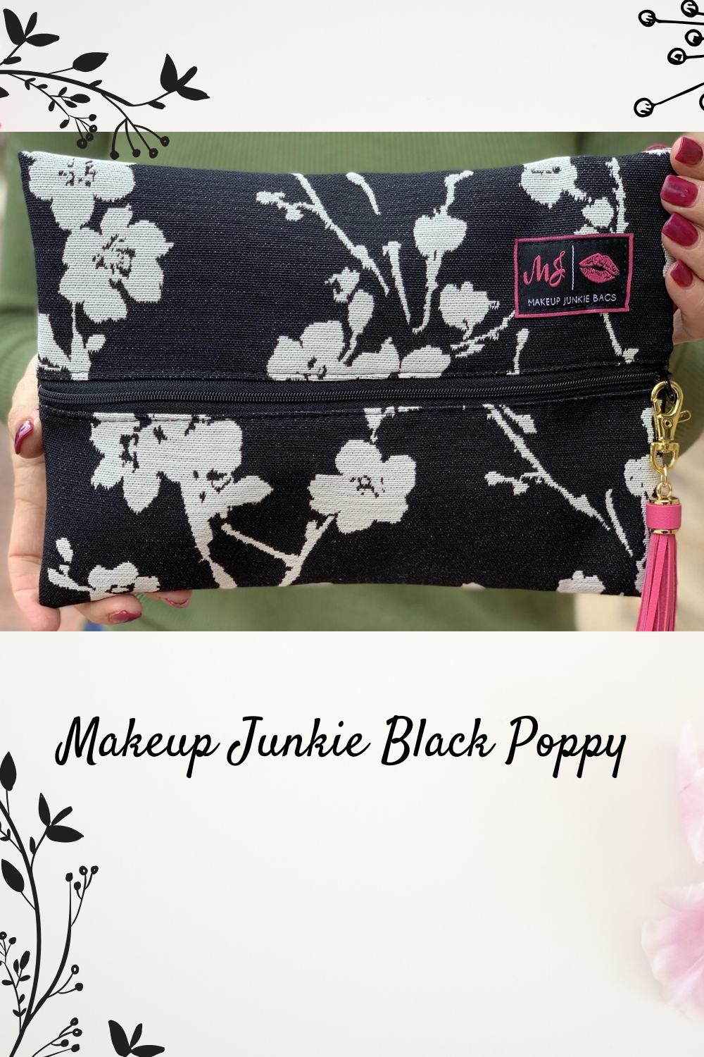 Makeup Junkie Black Poppy bag in 2020 Black poppy