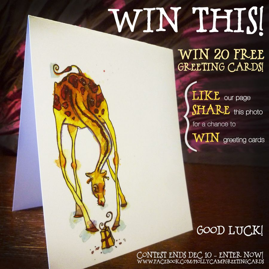 Enter to win 20 free greeting cards from Holly Camp Cards! Get on ...