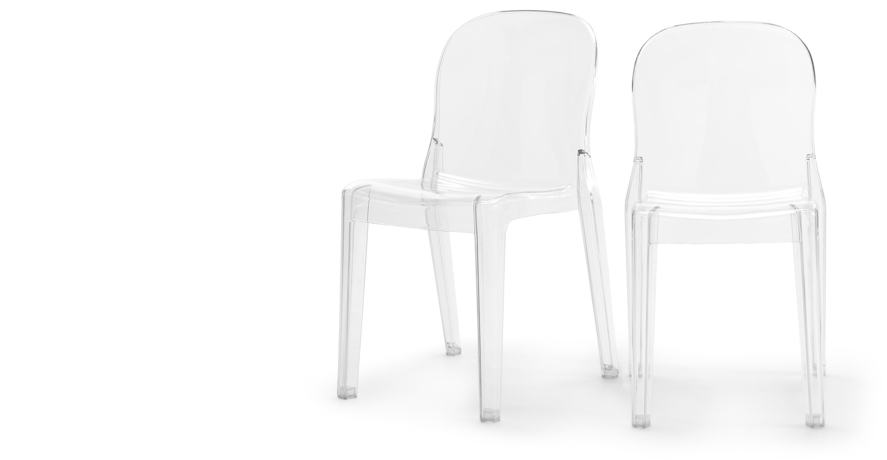 Made Com Flat Acrylic Dining Chairs Acrylic Chair White