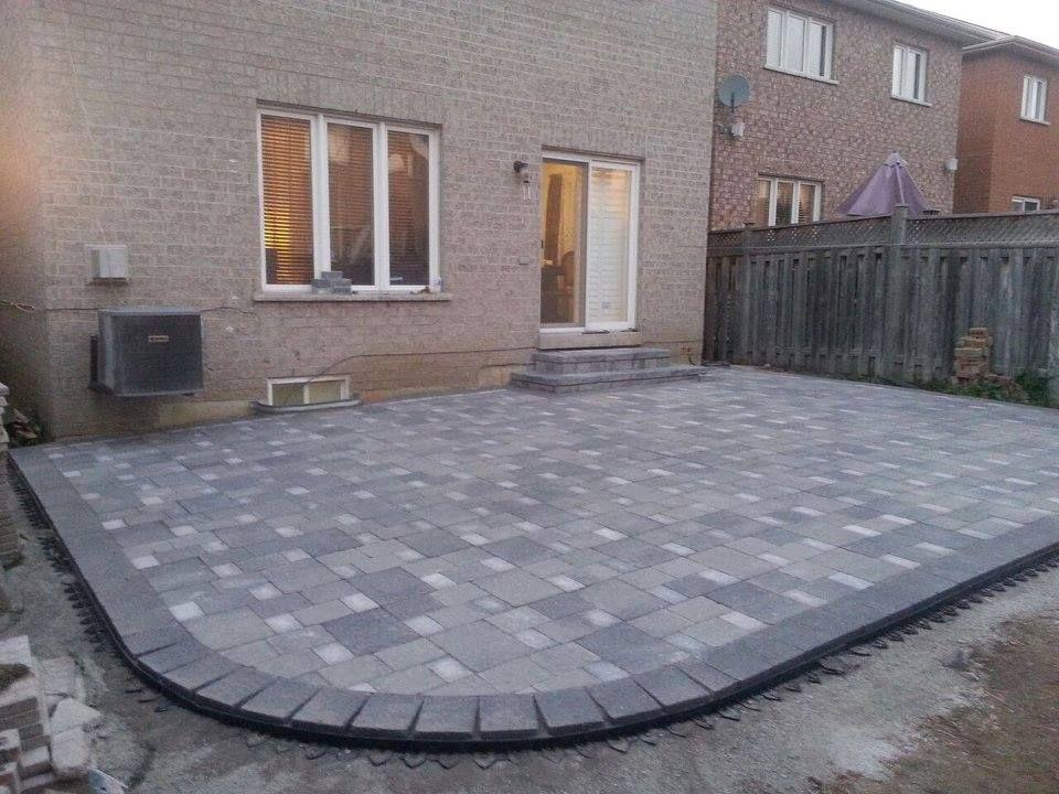 Backyard Patio Interlock In 2019 Backyard Patio Patio