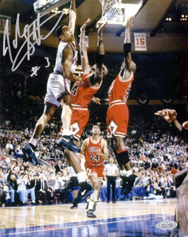 f4dc0724 John Starks w/ Cartwright Dunk Autographed Photo (Hand Signed ...