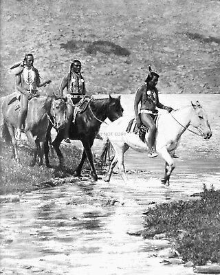 Photo of Details about BLACKFEET INDIANS AT PTARMIGAN LAKE BY ROLAND REED 8X10 HISTORIC PHOTO (RT675)