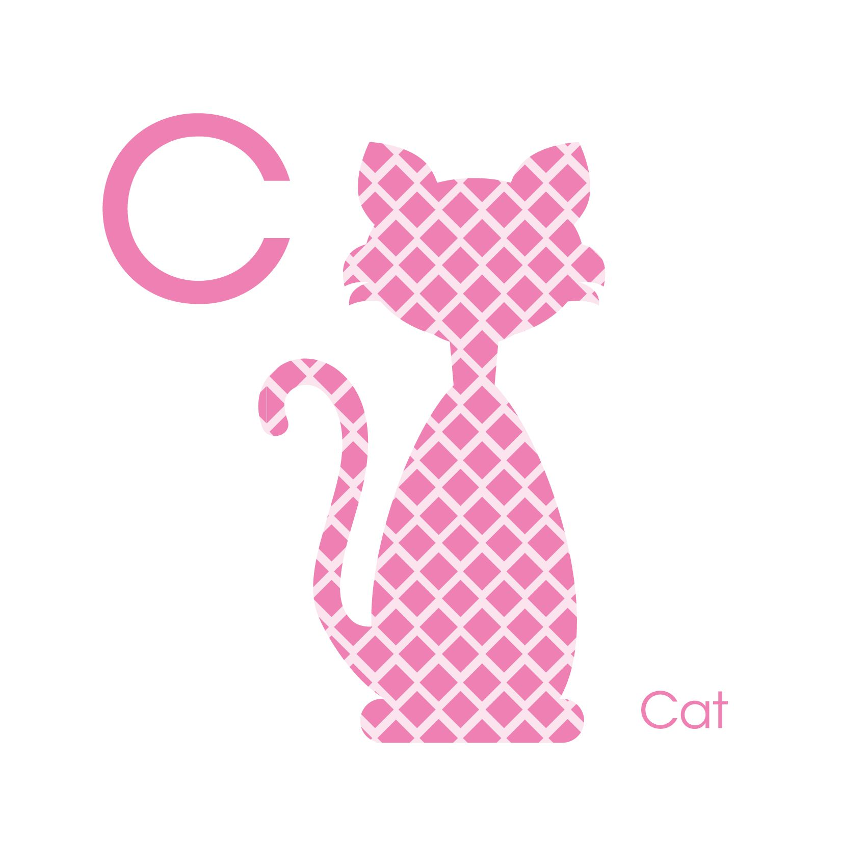 Animal Silhouette detail: C is for Cat—Classic Girl Color Scheme ...