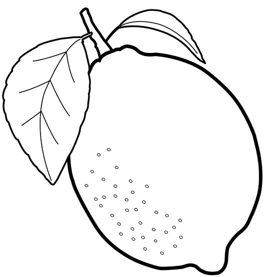 Dibujo De Limon Para Imprimir Google Search Boyama Sayfalari