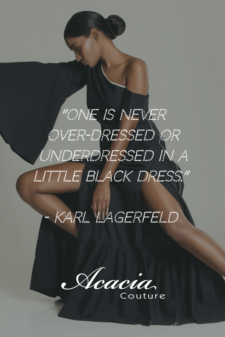 One Is Never Over Dressed Or Underdressed In A Little Black Dress Karl Lagerfeld Fashionquote Inspirational Posi Dresses Little Black Dress Under Dress [ 1100 x 734 Pixel ]