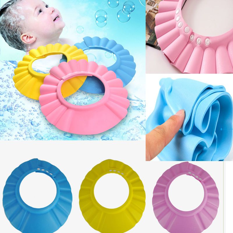 77620146fe6  1.29 AUD - Baby Kid Child Shampoo Bath Shower Cap Hat Wash Hair Shield  Adjustable Hot  ebay  Home   Garden