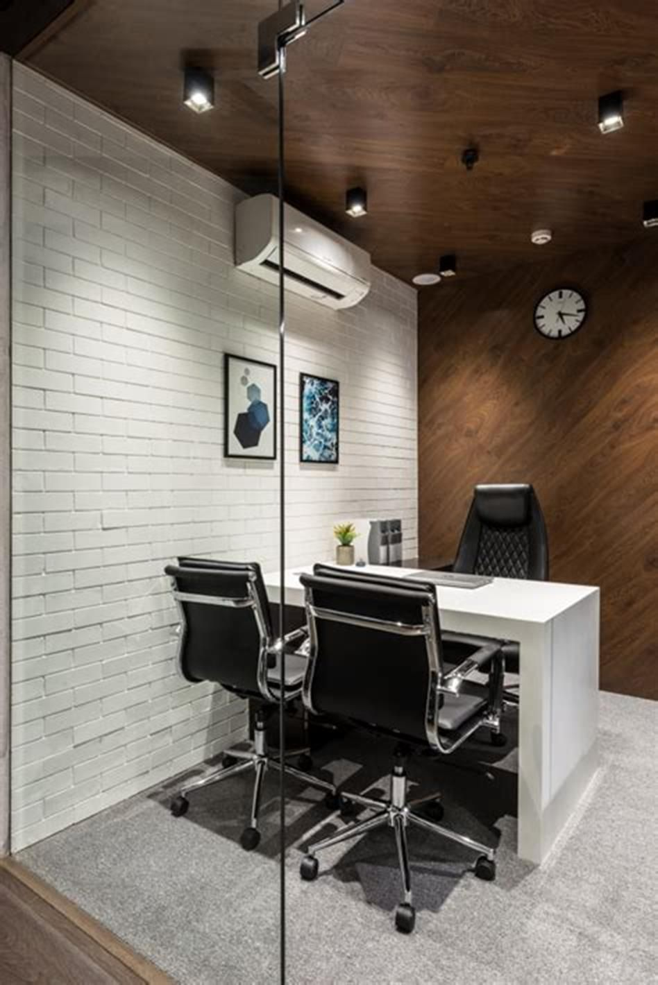 48 Best Small Home Office Design And Decorating Ideas Small Office Design Interior Modern Office Interiors Office Cabin Design
