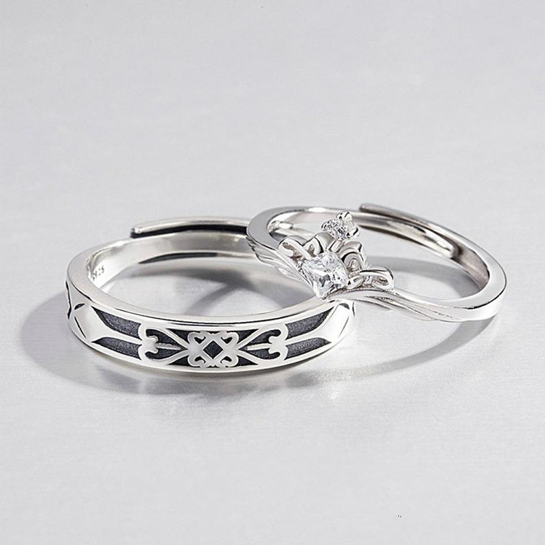 Princess And Knight Couple Ringspromise Rings Etsy Promise Ring Set Rings For Men Couple Rings
