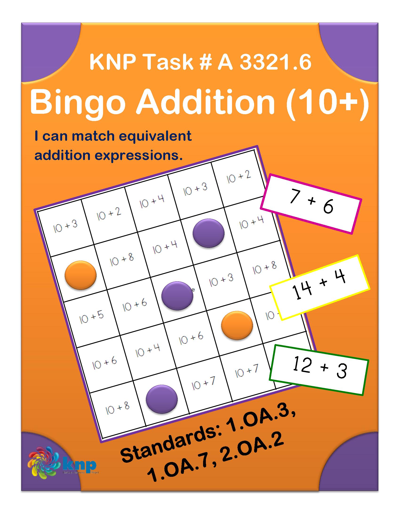 Bingo Addition 10