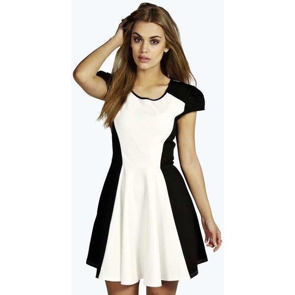 White t shirt skater dress.