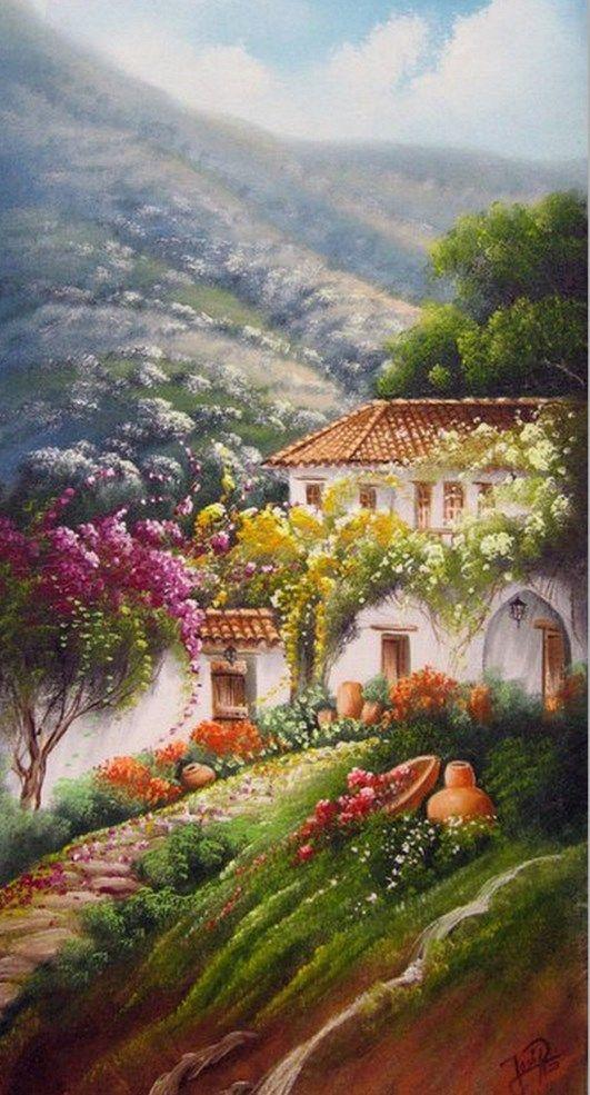 Im genes arte decorativo paisajes r sticos decorativos for Cuadros mexicanos rusticos