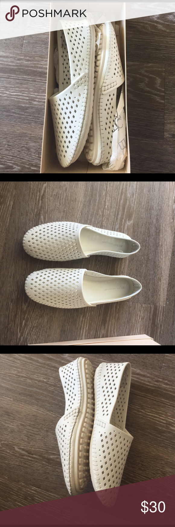 NWT bcbg leather flats Brand new never worn. Perforated leather flats (real leather) cushioned insole. Rubber bottom. BCBGeneration Shoes Flats & Loafers