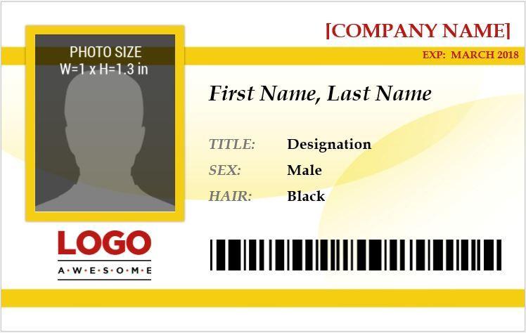 15 employee photo id badges templates badge template