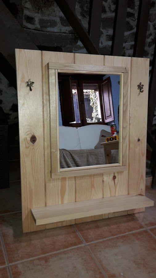 Crea un espejo de madera paso por paso espejos espejos - Espejos rusticos ...