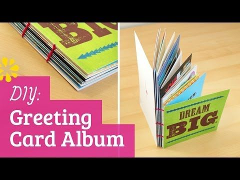 How to make a greeting card album youtube smart way to keep cards how to make a greeting card album youtube smart way to keep cards to display m4hsunfo