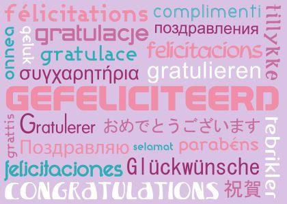 van harte gefeliciteerd alle talen