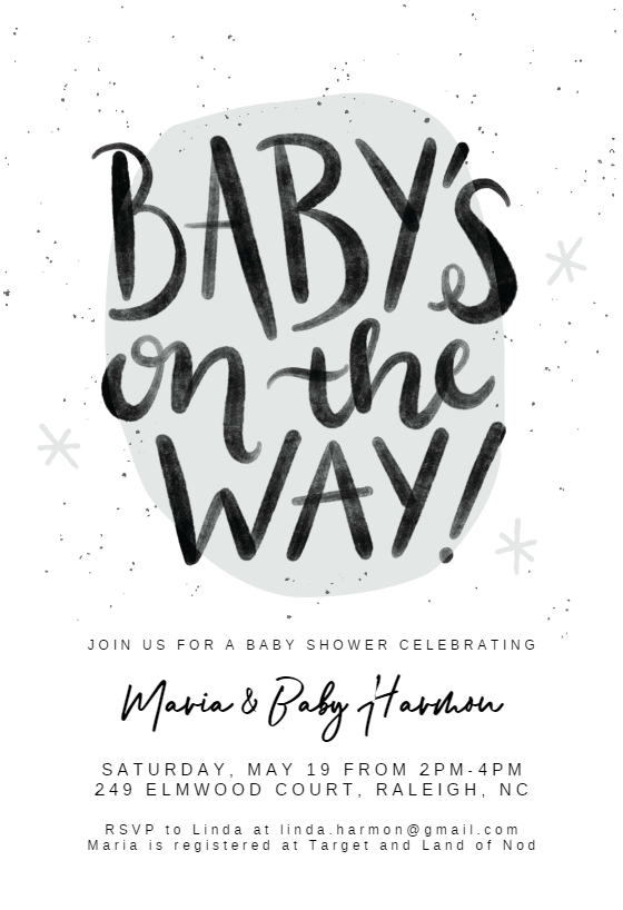 Winter Hand Letters Baby Shower Invitation Template Free Greetings Island Baby Shower Invitation Templates Baby Shower Invitations Free Baby Shower Invitations
