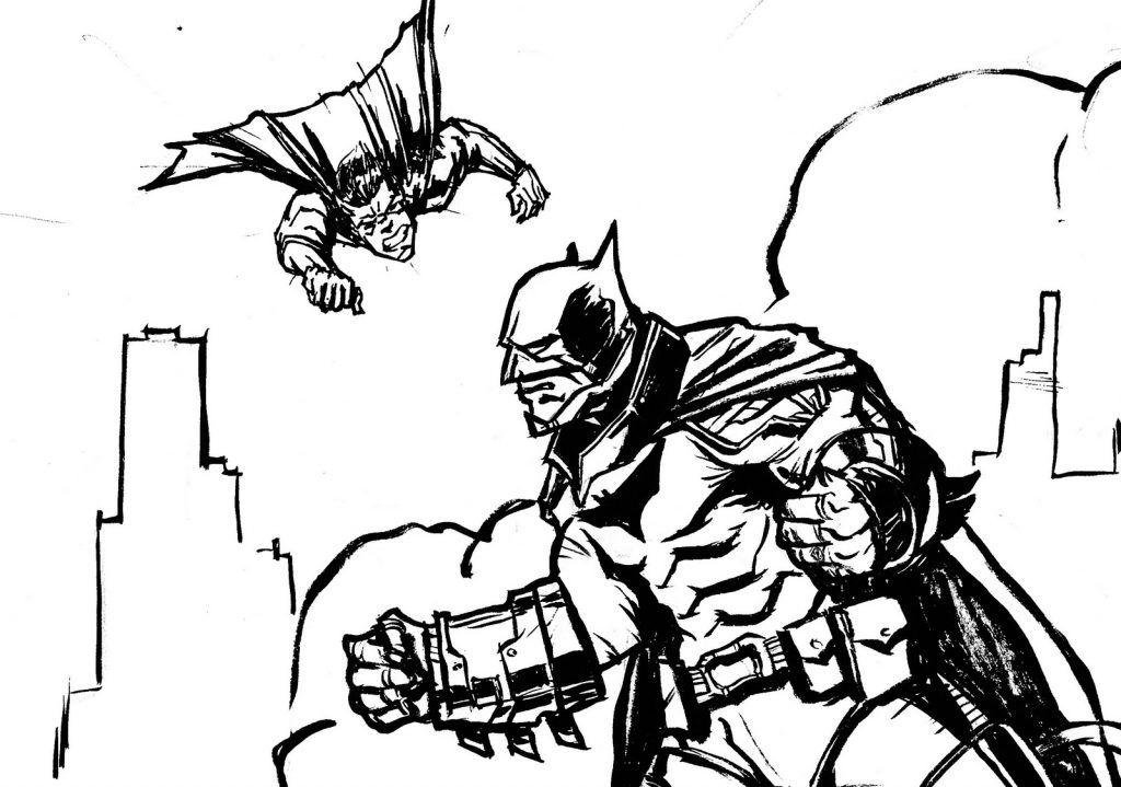 Batman Vs Superman Coloring