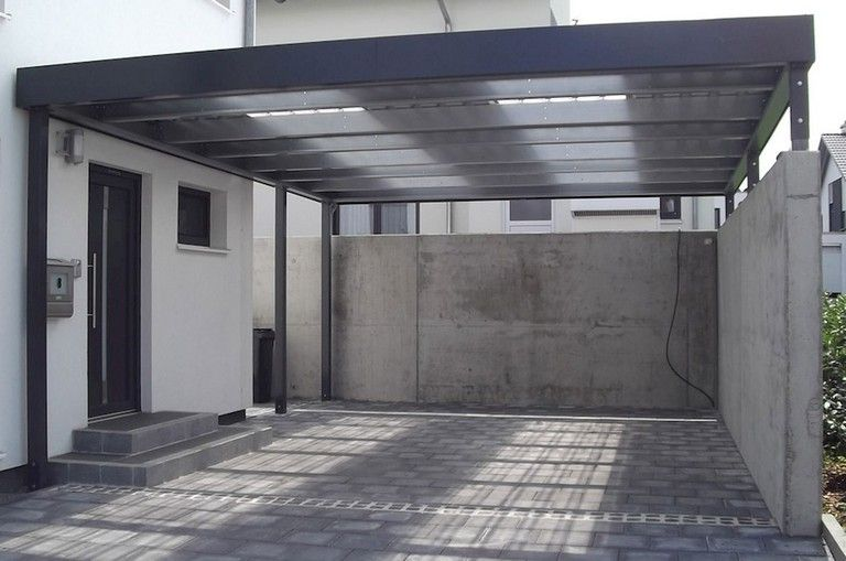 53+ Fascinating Modern Carports Garage Designs Ideas