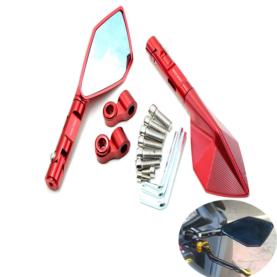 Universal Aluminum mirror CNC motorcycle rearview Side