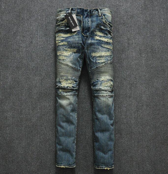 pierre balmain jeans sale, BALMAIN JEANS BIKER IN DENIM