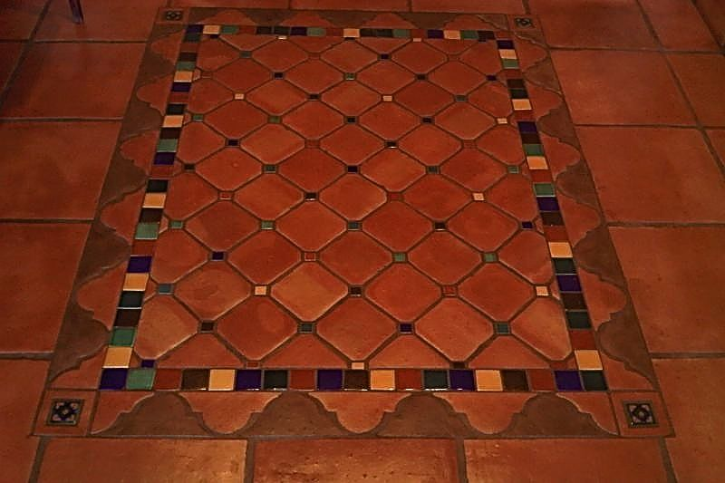 We Absolutely Love This Mexican Tile Rug Like Mural Mexican Tile