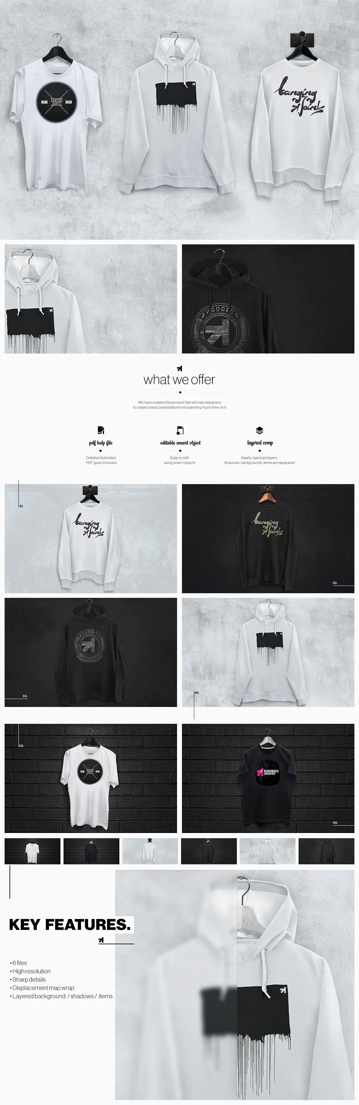 Download T Shirt Sweatshirt Hoodie Mockup Set By Bangingjoints On Envato Elements Hoodie Mockup Sweatshirt Shirt Sweatshirts