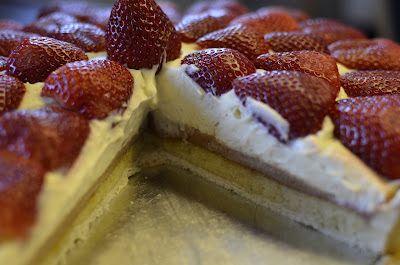 Spisekammeret: Jordbærtærte med mazarin og chokolademousse