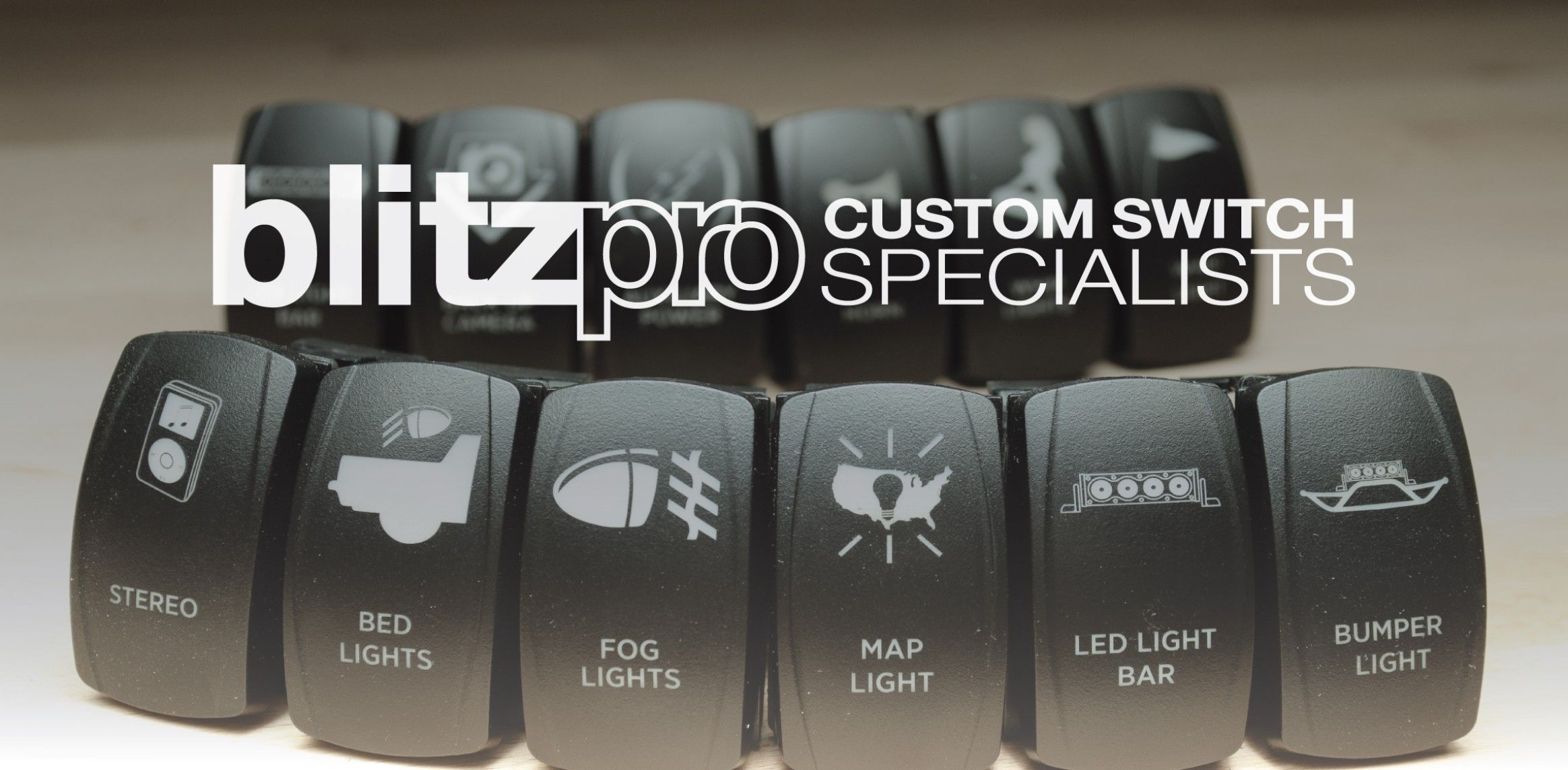 blitzpro custom rocker switches truck stuff and outdoors pinterest rockers jeeps and toyota. Black Bedroom Furniture Sets. Home Design Ideas
