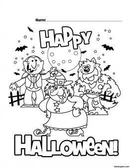 Printable Happy Halloween Coloring Pages Printable