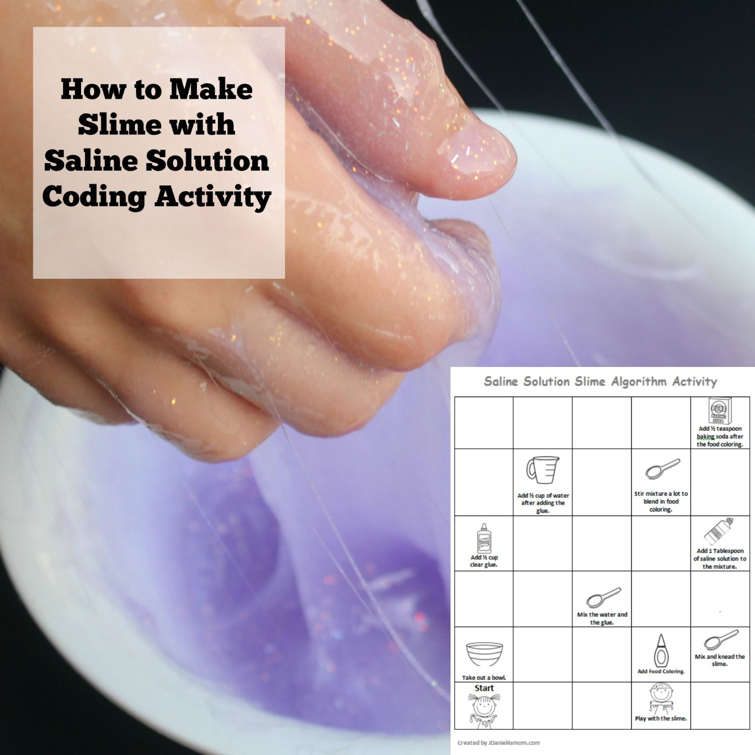 How To Make Slime With Saline Solution Coding Activity